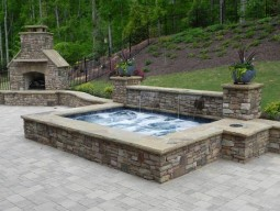 In-Ground Hot Tub & Outdoor Fireplace