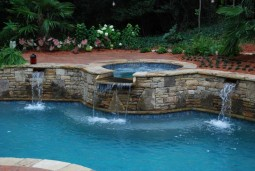 Gunite Pool, Spillover Spa & Water Features
