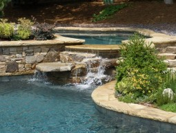 Spillover Spa with Water Feature