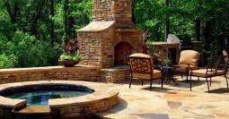 Spillover Spa & Outdoor Fireplace