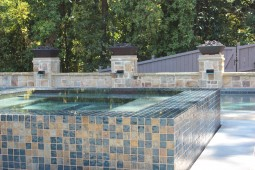 Water Feature & Spillover Spa