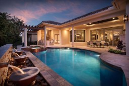 Outdoor Living Space With Gunite Pool