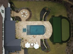 Drone Footage of Outdoor Lifestyle Pool